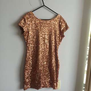 Funky Cool Sparkle Dress With Cut Out Back