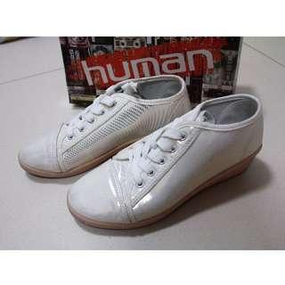 HUMAN High Cut Shiny White Shoes
