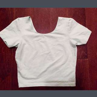 Brand New American Apparel Mint Crop Top