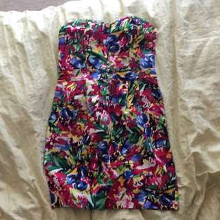 Strapless H&M dress. Size XS