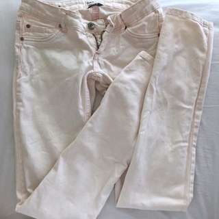 Pale Pink Skinny Jeans