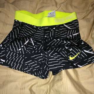 Nike Pro Neon And B&w Shorts