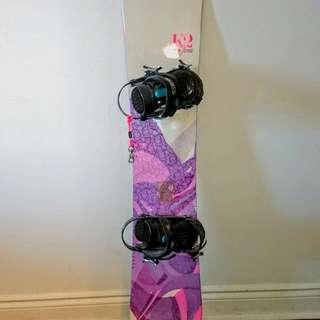 K2 Snowboard With Ride Bindings & Burton Boots!