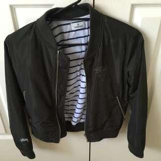 Stussy khaki bomber jacket