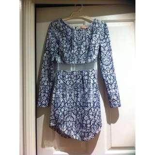 Mini Dress With Mesh Detail