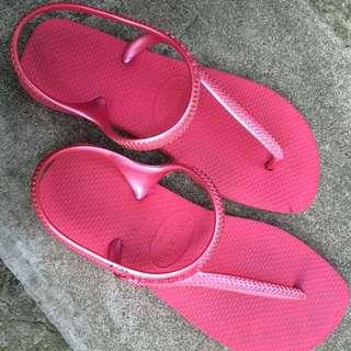 havaianas 哈瓦士 螢光粉 涼鞋 37-38