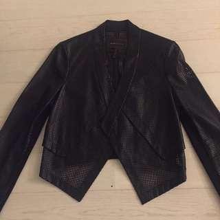 BCBG Faux Leather Blazer/ Jacket