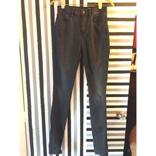 Sass And & Bide Jeans High Waisted Rise Gunmetal Grey Size 27 9