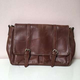 Skibog Leather Postman Bag
