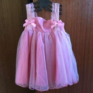 Dusky Pink Tulle Toddler Dress