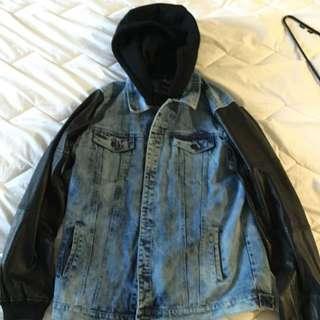 BAMBAM Denim Leather Jacket XL