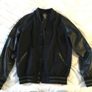 INDUSTRIE leather Varsity Jacket
