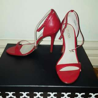 Aldo Red Strappy Heels - Size 8