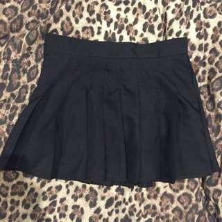 Black Tennis Skirt Small