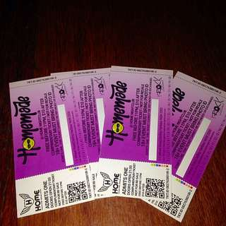 4 HOMEBAR TICKETS FOR EVERY SATURDAY