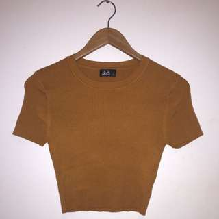 Dotti Mustard Crop Top