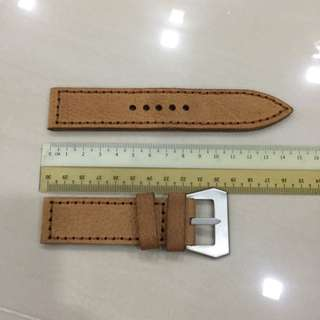 26mm Light Brown Leather Strap For Sale