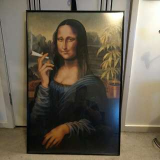 Mona Lisa Limited Edition Picture Frame Of Her Smoking On A Fatty