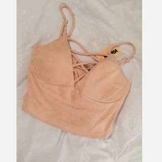 Peach/Nude Crop Top Brand New