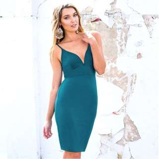 Dissh Boutique Teal Dress Size 10