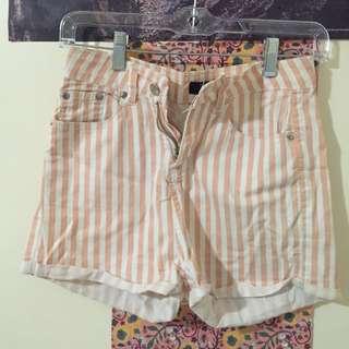 Pink & White Shorts