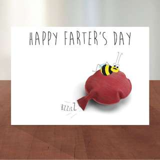 Farter's Day - Father's Day Greeting Card WITH Seeds for Bee & You