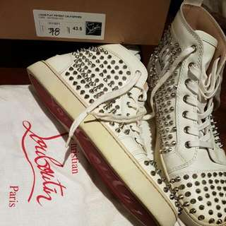 Christian Louboutin Patent Spike Sneakers