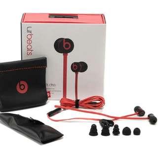 Beats urBeats by Dr. Dre Earphones Red Black