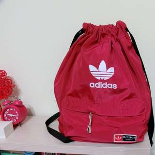 Adidas 桃紅後背包