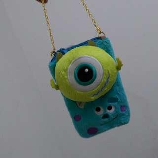 全新日本迪士尼樂園購入 玩具總動員手機套 大眼仔/毛怪