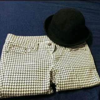 千鳥紋長褲