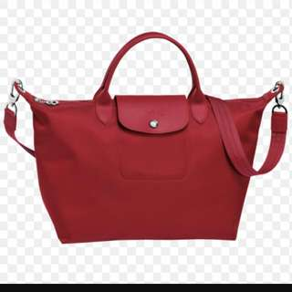 (Reserved)Brand New Genuine Ruby LONGCHAMP NEO Medium Size