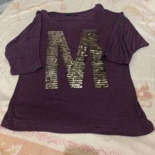 3/4 Blouse w/letter M initial