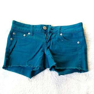 American Eagle Turquoise Jean Shorts