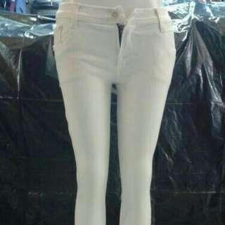Celana JEANS Putih Cewek / Wanita