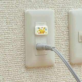 日本Richell出品-皮卡丘安全插座蓋  WAY380100#0817