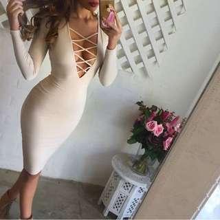 Nookie Ti Amo Dress Nude Size L