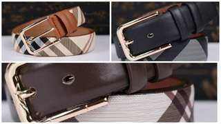 Burberry Inspired Belts