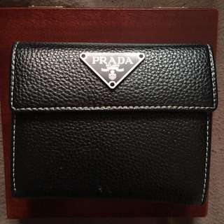 Prada Black Leather Wallet