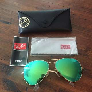 Ray-bans Green Mirrored Sunglasses