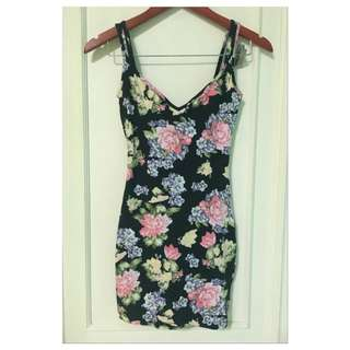 topshop flower dress