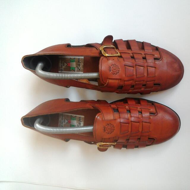 義大利,皮製涼鞋