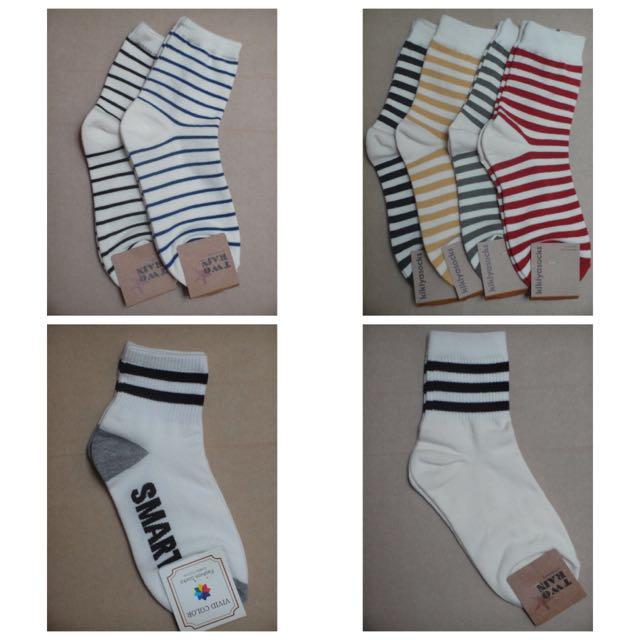 [韓襪]線條長襪