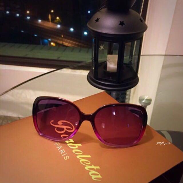 ✨法系精典品牌 Borboleta 優雅紫 太陽眼鏡✨