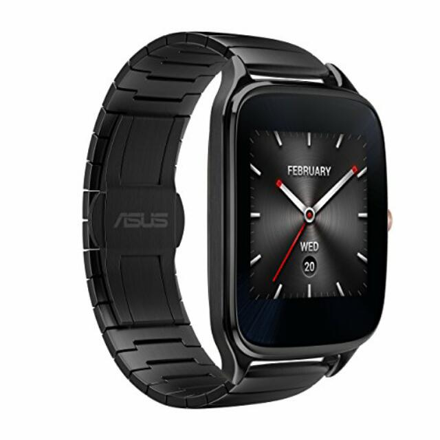 九成新 Zenwatch 2 (盒裝配件齊全,黑色金屬錶帶)