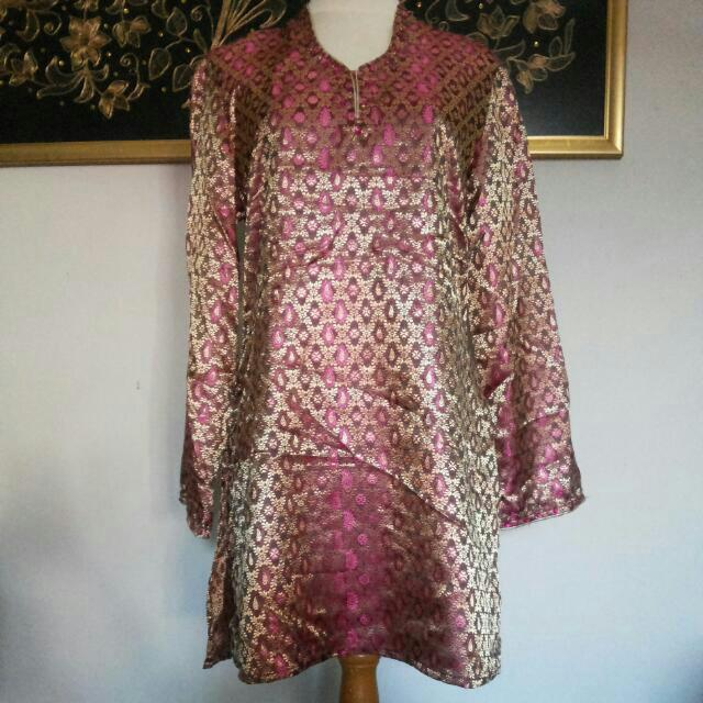 ACCENT Diamante Ethnic Pattern Tunic / Blouse