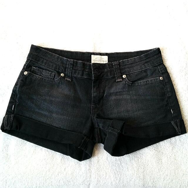 Aeropostale Black Jean Shorts