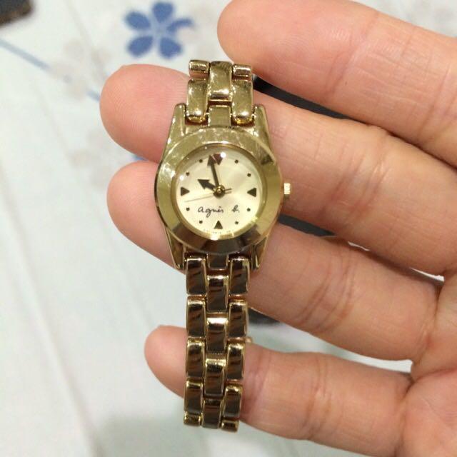 降價~agnes b 石英錶-日本製