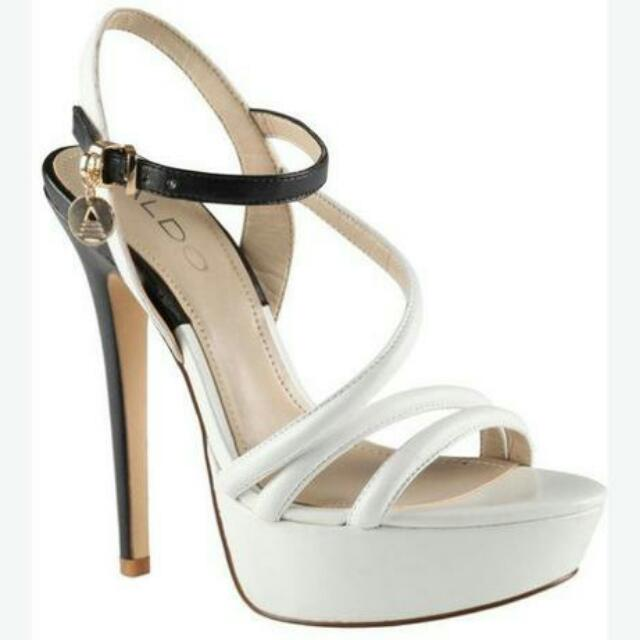 ALDO black and white platform heels