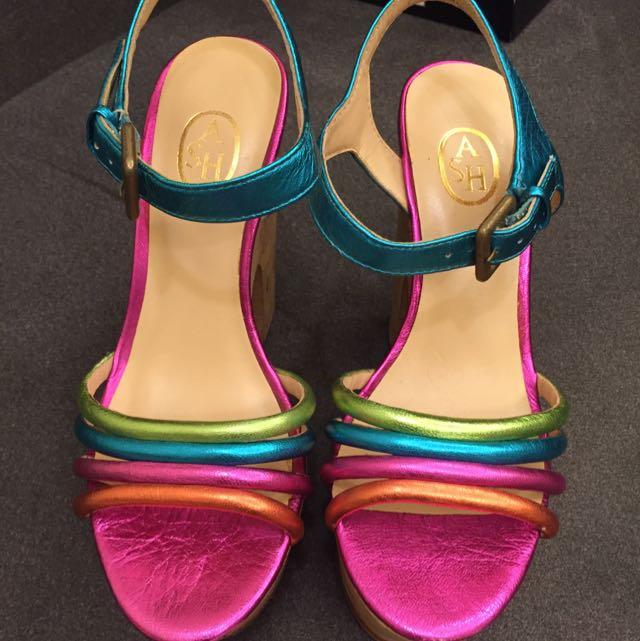 ASH 彩虹厚底高跟鞋